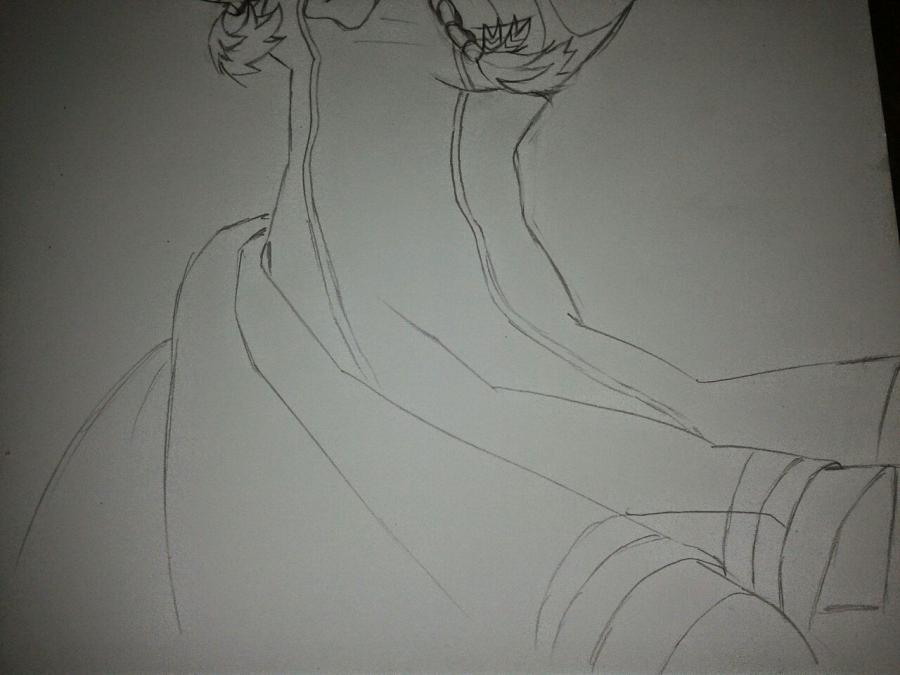 Рисуем Анну в стиле аниме карандашами - шаг 12
