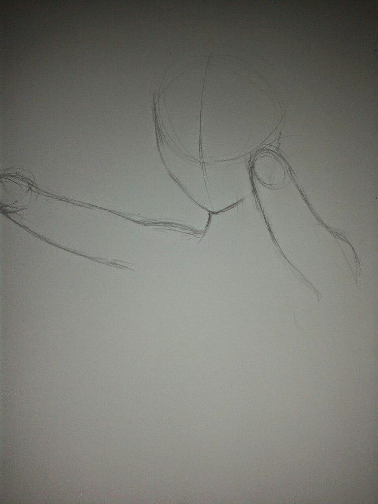 Рисуем Анну в стиле аниме карандашами - шаг 2