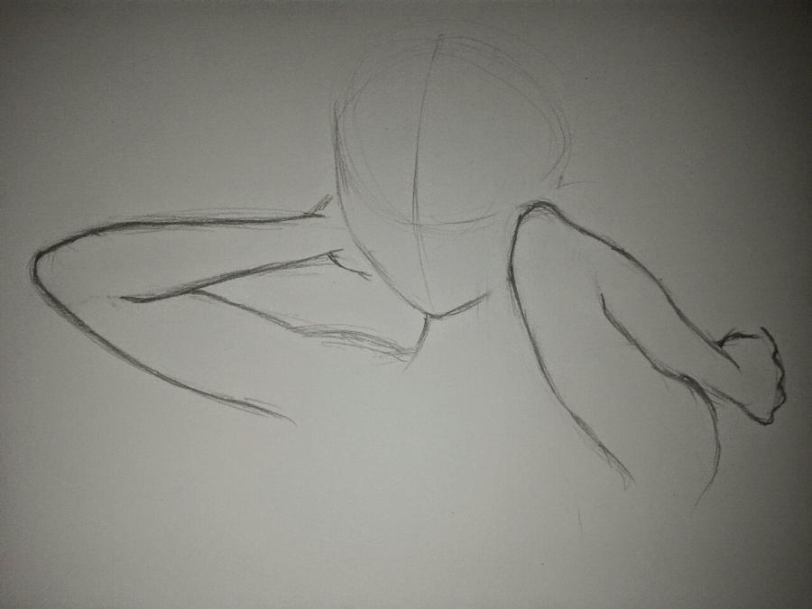 Рисуем Анну в стиле аниме карандашами - шаг 4