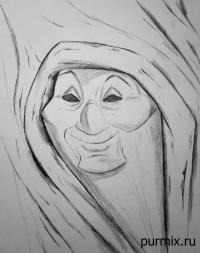 Фото бабушку Иву из Покахонтас карандашом
