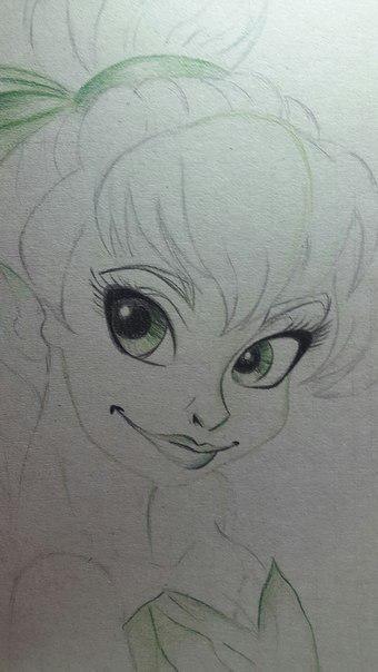 Рисуем фею Динь-Динь карандашами - шаг 9