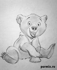 Фото Кода из Братец медвежонок карандашом