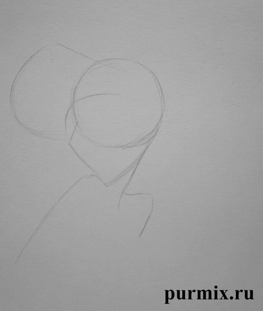 Рисуем Меган из Геркулеса простым - шаг 1