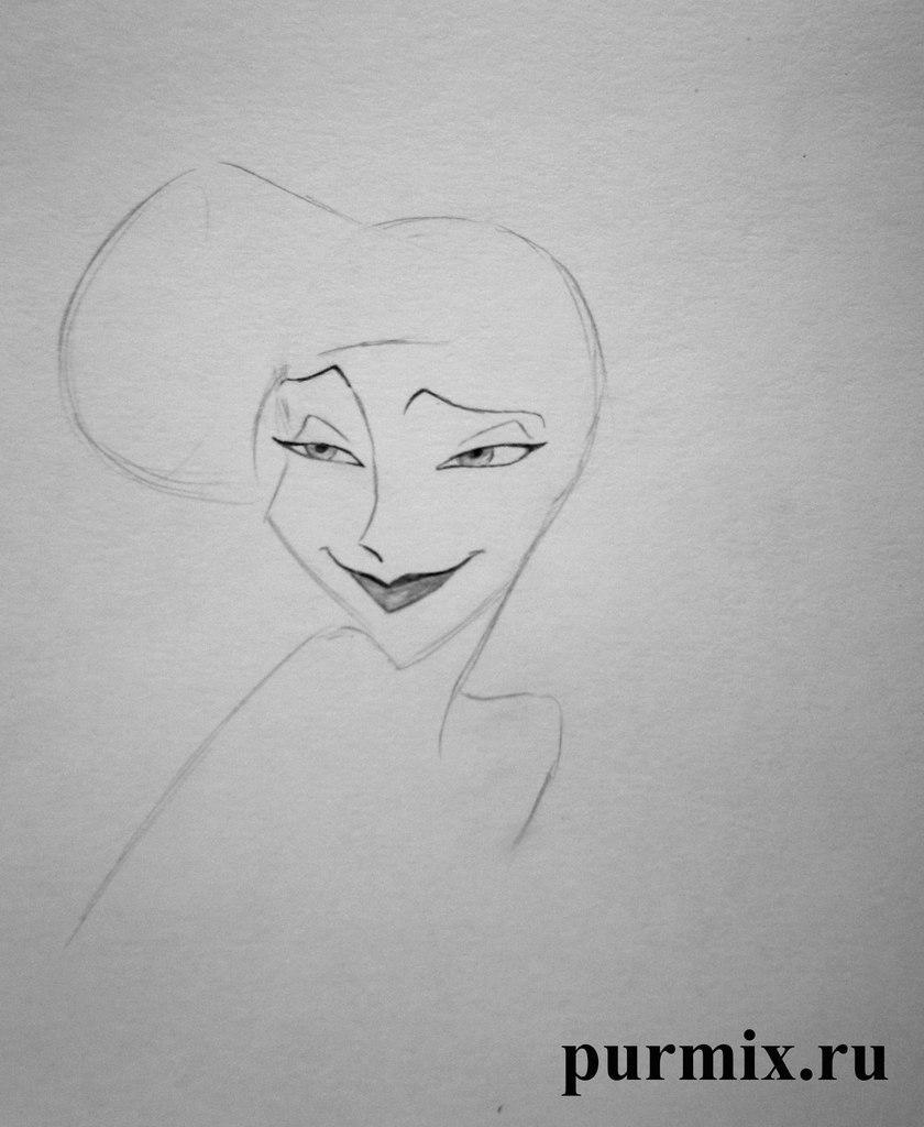 Рисуем Меган из Геркулеса простым - шаг 3