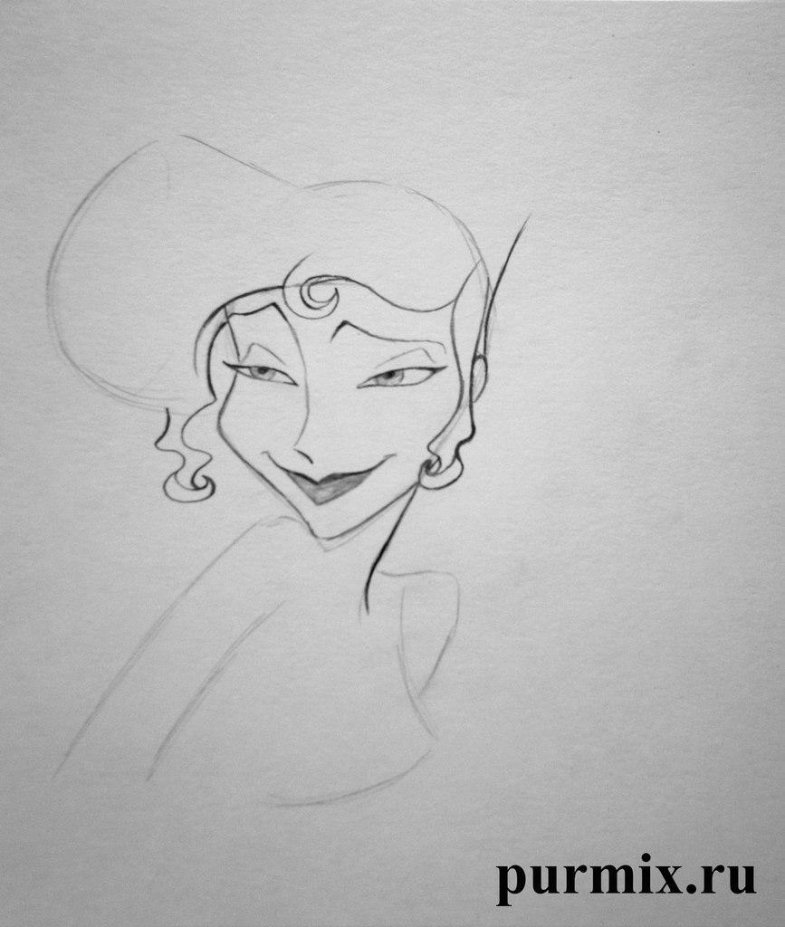 Рисуем Меган из Геркулеса простым - шаг 4