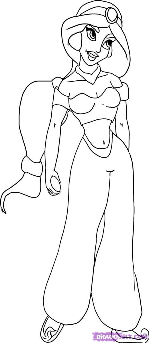 Рисуем Жасмин для начинающих - шаг 5