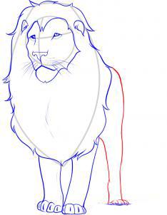 Рисуем льва - шаг 5