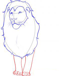 Рисуем льва - шаг 4