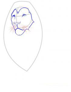 Рисуем льва - шаг 3