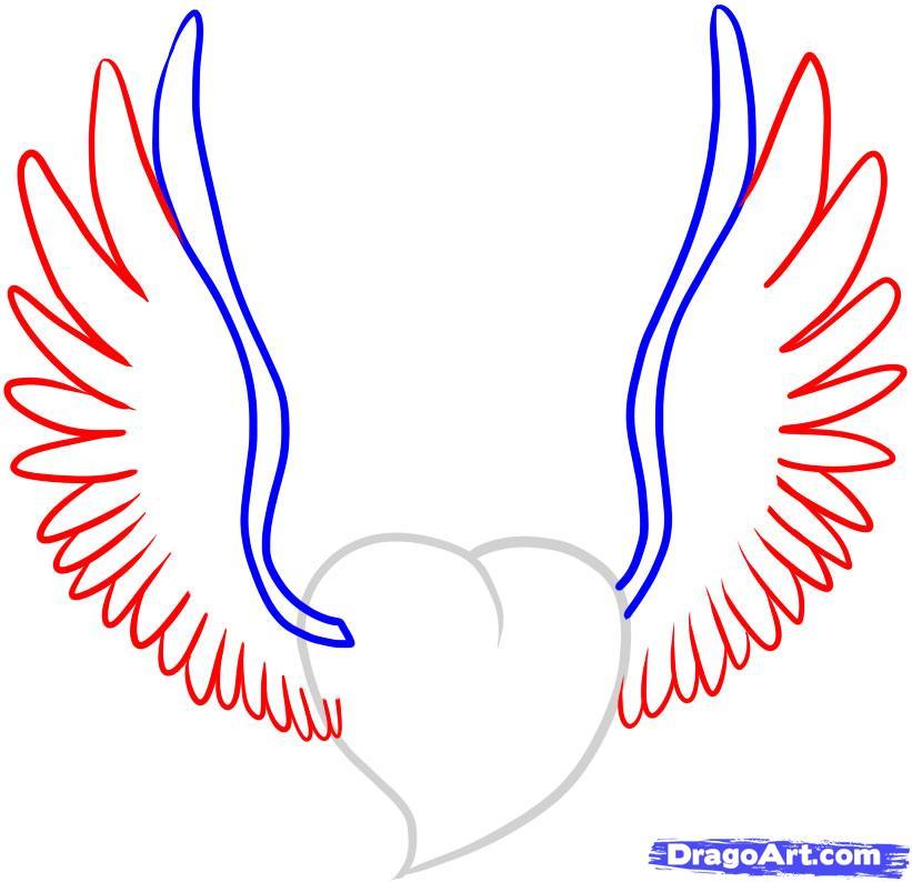 свойства картинки как нарисовать сердце с крыльями красивые это