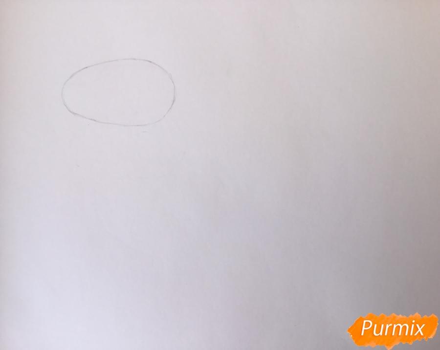 Рисуем Далматинца в полный рост - шаг 1