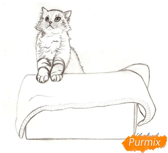 Рисуем котенка в коробке - шаг 5