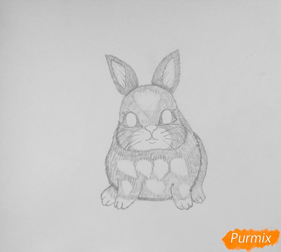Рисуем маленького крольчонка - шаг 4