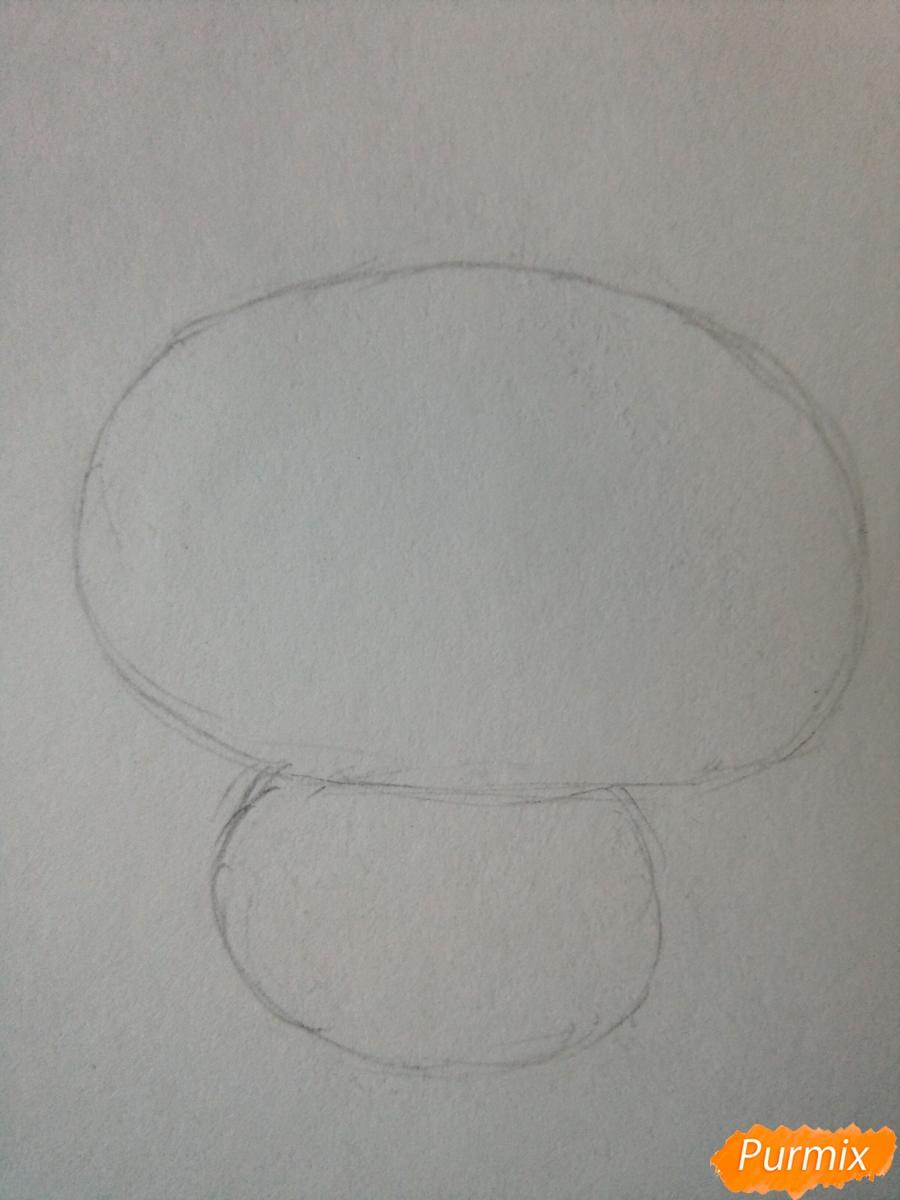 Рисуем милого чиби олененка карандашами - шаг 1