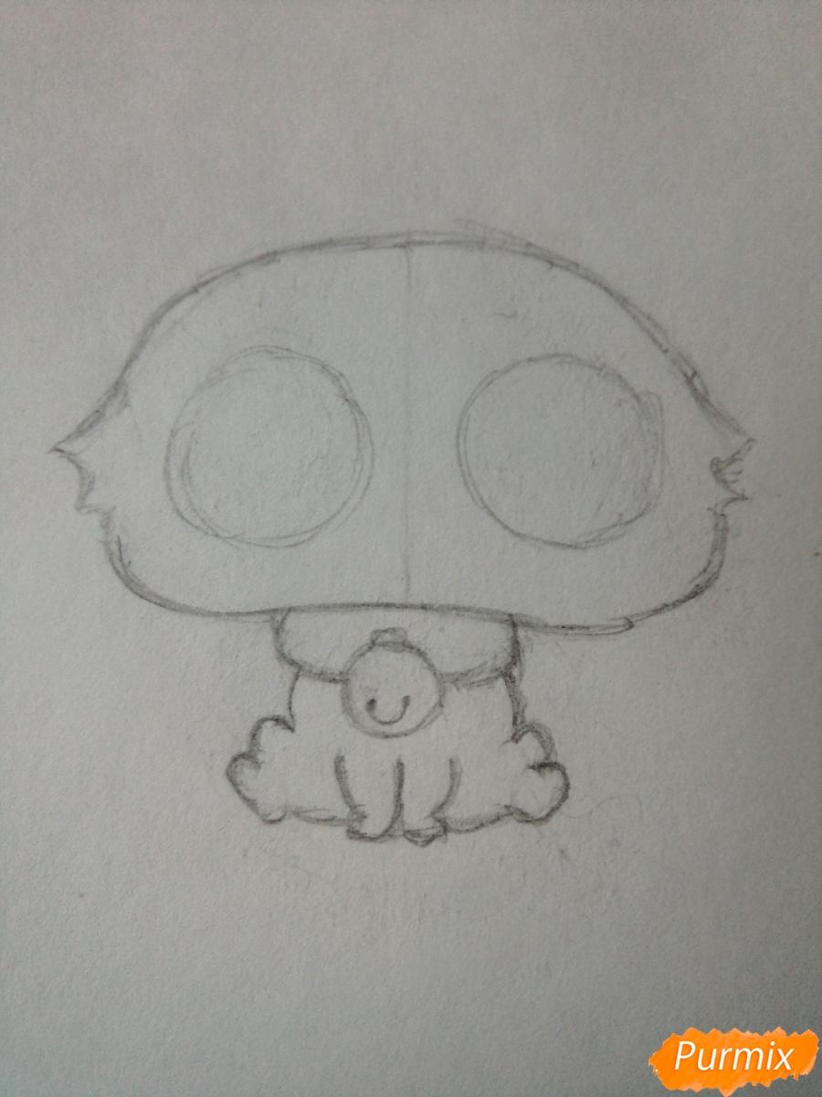 Рисуем милого чиби олененка карандашами - шаг 3