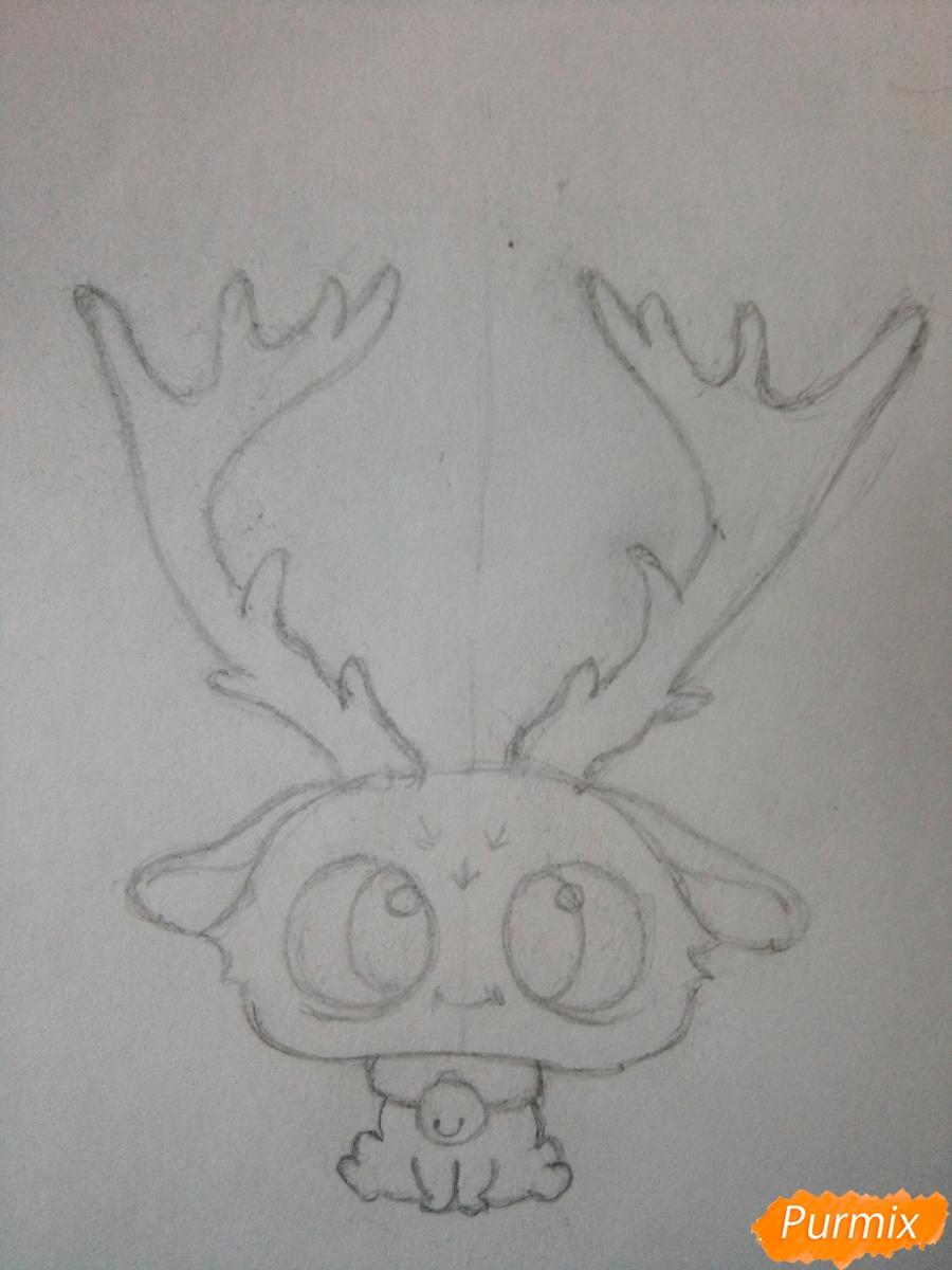 Рисуем милого чиби олененка карандашами - шаг 5