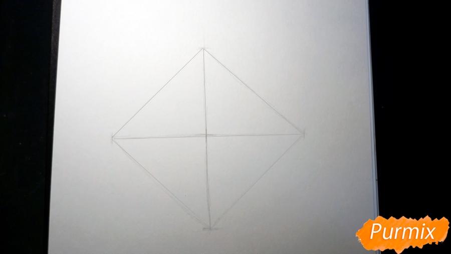 Рисуем морду лисы - шаг 1