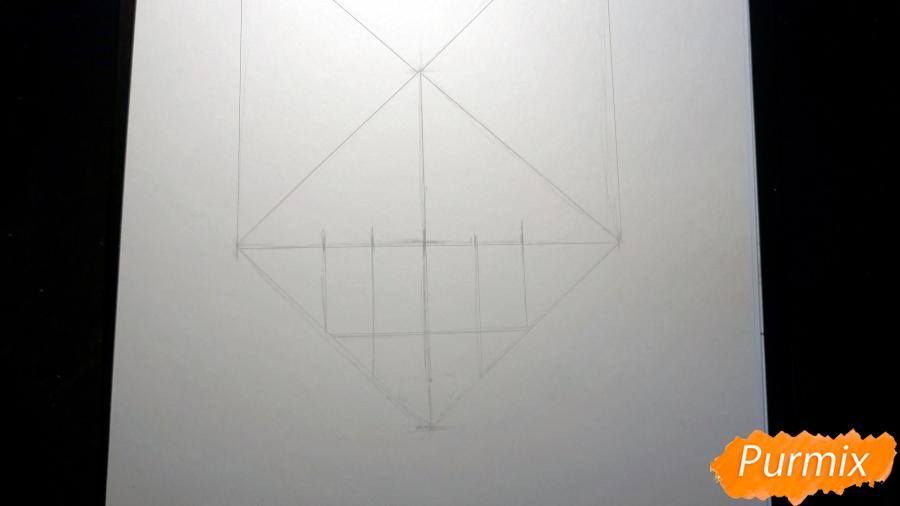 Рисуем морду лисы - шаг 2