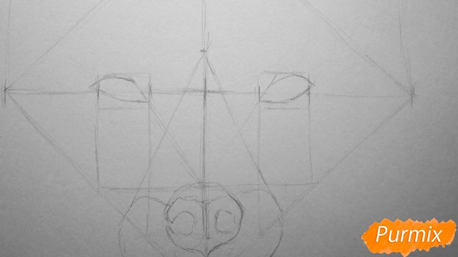 Рисуем морду лисы - шаг 3