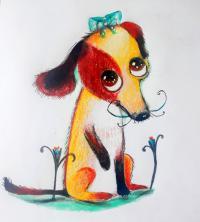 мультяшную собаку