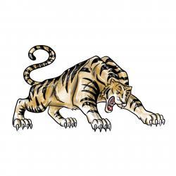 рычащего тигра