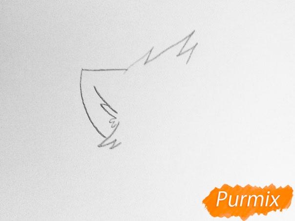 Как просто нарисовать два милых аниме котенка - шаг 1