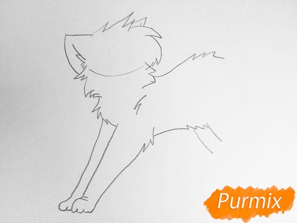 Как просто нарисовать два милых аниме котенка - шаг 3