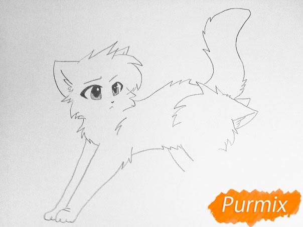 Как просто нарисовать два милых аниме котенка - шаг 5