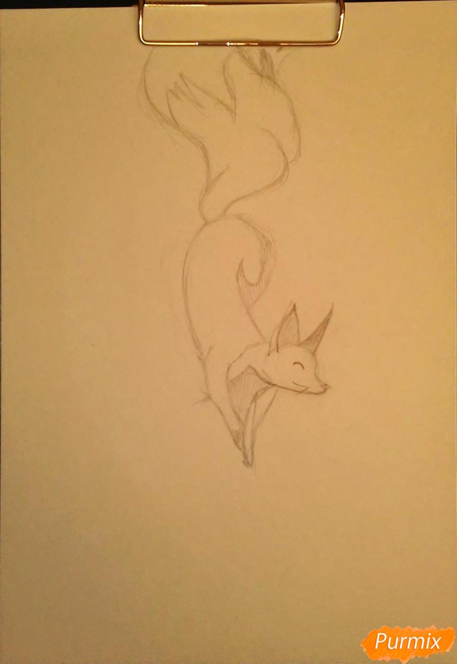 Как просто нарисовать лисичку - шаг 3