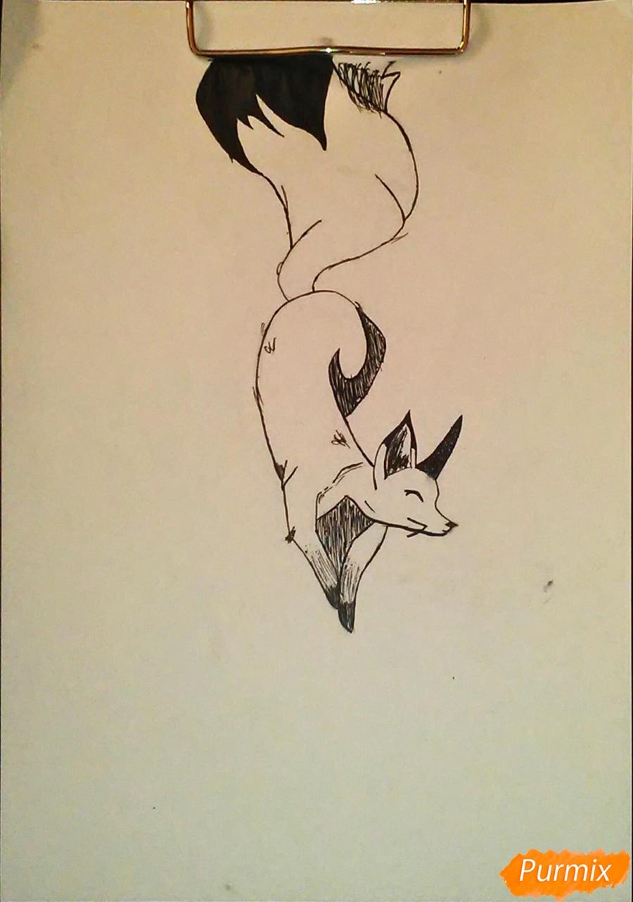Как просто нарисовать лисичку - шаг 5