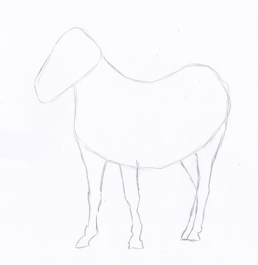 Рисуем зебру - шаг 2