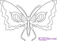 бабочку с глазами на крыльях