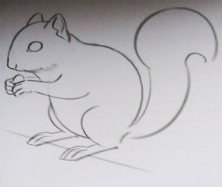 kak_narisovat_belku_karandashom-step-3 Как нарисовать белку поэтапно карандашом для детей и начинающих? Как нарисовать белку из сказки о царе Салтане и на дереве?