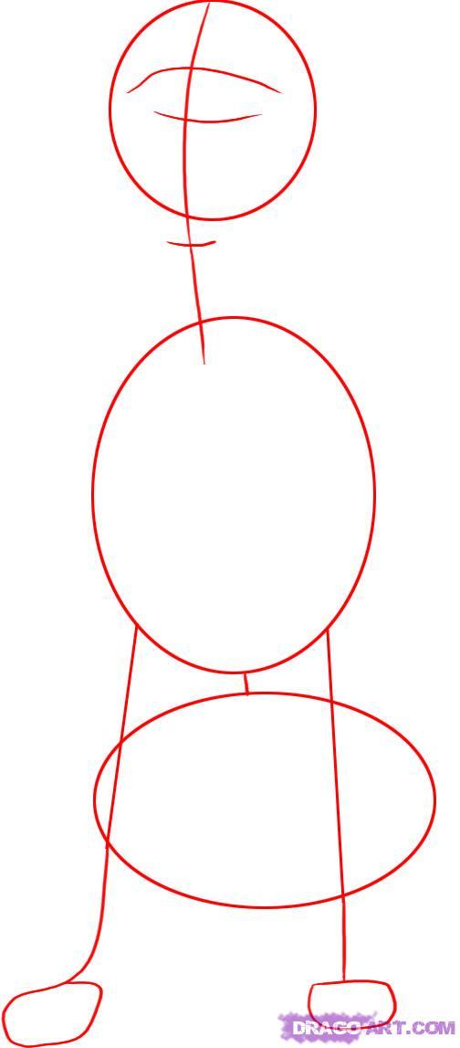 Рисуем собаку далматинца - шаг 1