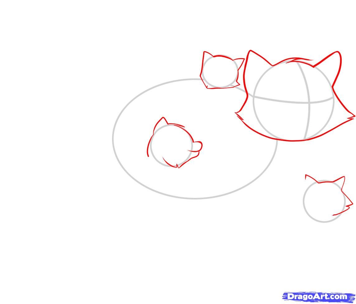 Рисуем енота - шаг 2