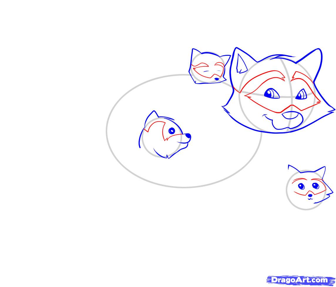 Рисуем енота - шаг 4