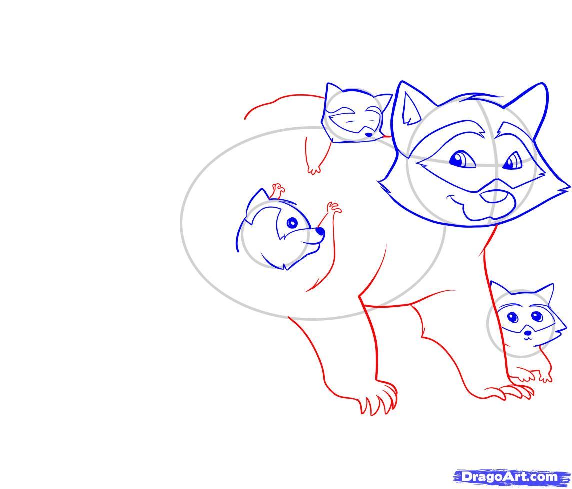 Рисуем енота - шаг 5