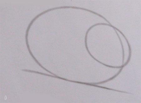 Рисуем кролика карандашами - шаг 1
