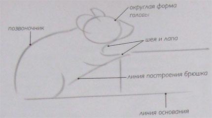 Рисуем мышку - шаг 1