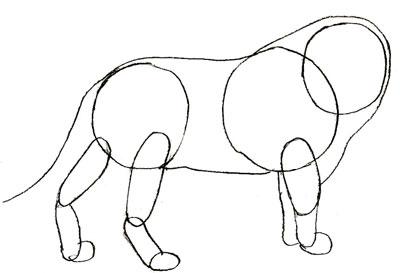 Как просто нарисовать льва - шаг 3