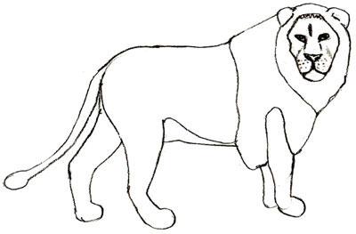 Как просто нарисовать льва - шаг 6