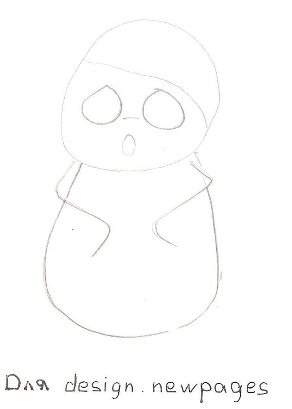 Рисуем милую панду - шаг 1