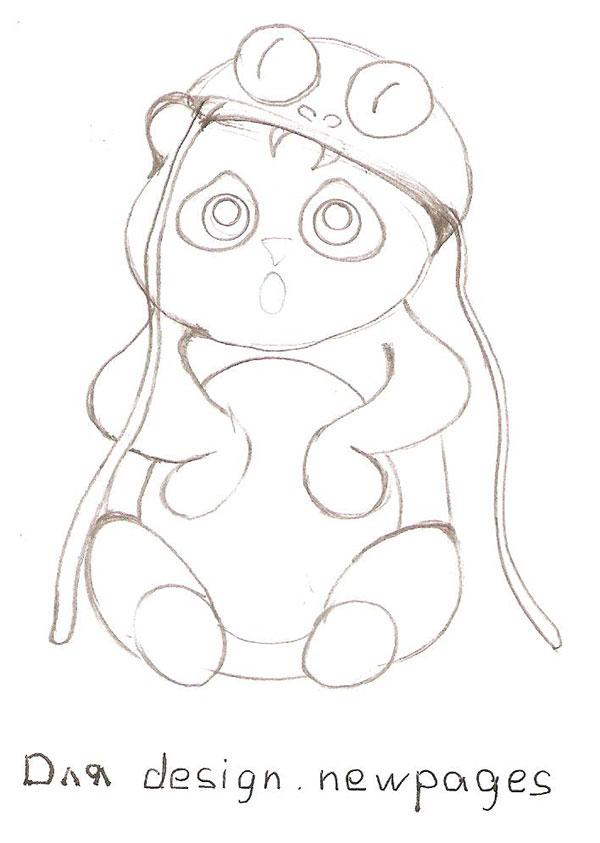 Рисуем милую панду - шаг 3