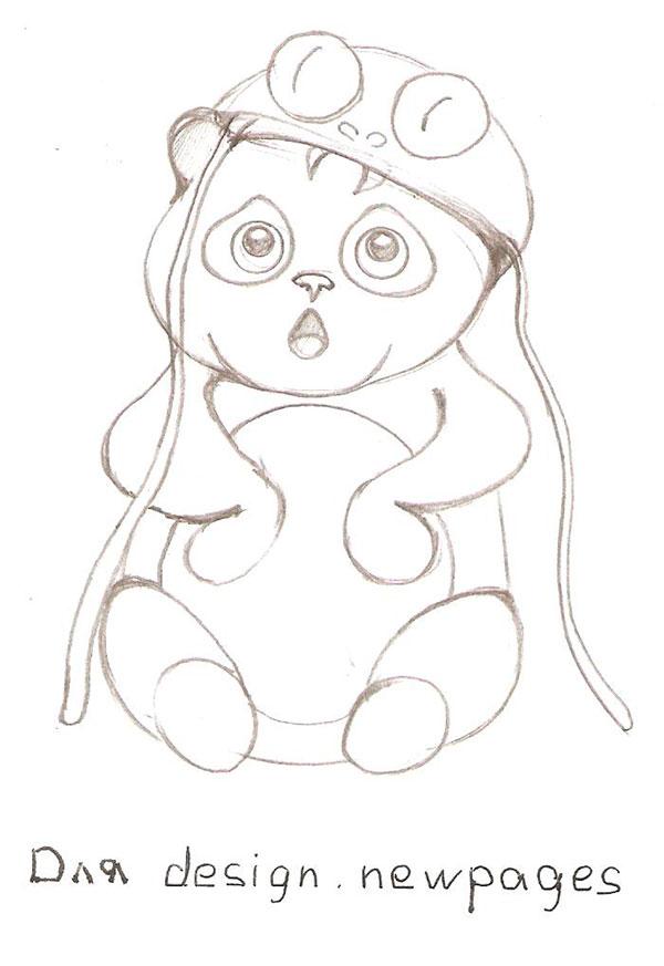Рисуем милую панду - шаг 4