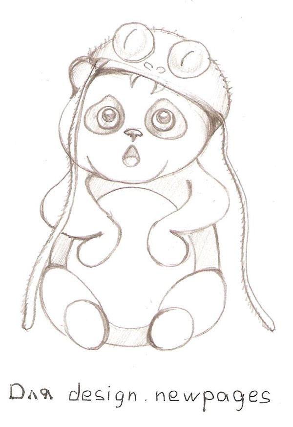 Рисуем милую панду - шаг 5