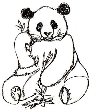 Рисуем сидящую панду - шаг 5
