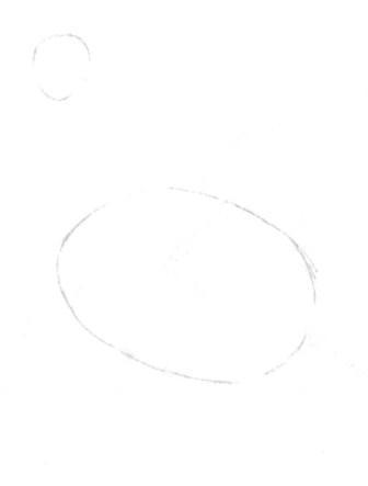 Рисуем петуха - шаг 1