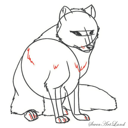 Рисуем полярную Лисицу