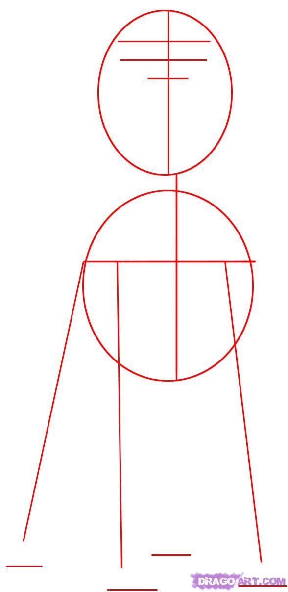 Рисуем собаку Ротвейлера - шаг 1