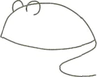 Рисуем серую мышку - шаг 1